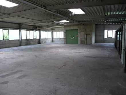 Lagerhalle mit WC / Dusche im OG einer Gewerbehalle + Aussenfläche + Garagen