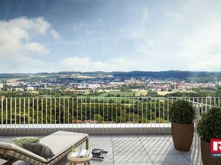 3,5 Zimmer, 92 m² Wfl. zzgl. großer Balkon und Traumblick
