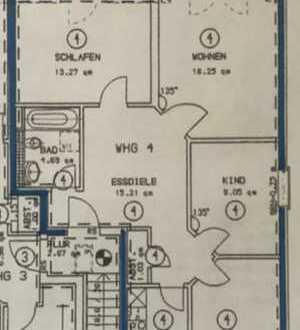 Bezaubernde und erschwingliche 4- Zimmer Wohnung in ruhiger Ortslage