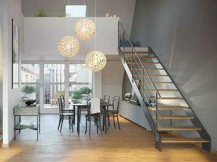 Penthouse-Maisonette mit moderner, offener Raumgestaltung und Dachterrasse in erstklassiger Lage