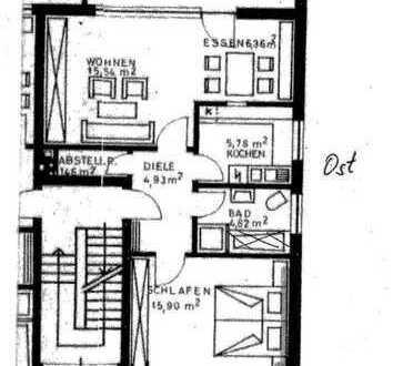 Steinhagen. Gut geschnittene, schöne, helle 2 ZKB Wohnung in ruhiger Lage