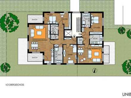 3-Zimmer-Wohnung mit 2 Balkonen und Blick ins Grüne