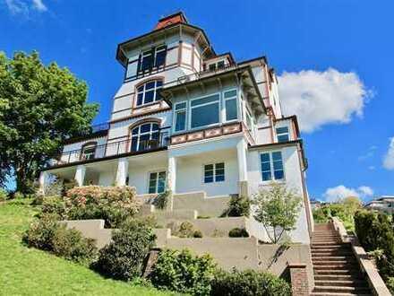 Wohnung über zwei Ebenen mit Elbblick und Garten