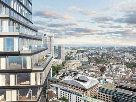 Wohnen in 100 Metern Höhe: 1-Zimmer-Wohnung mitten in der Frankfurter Skyline