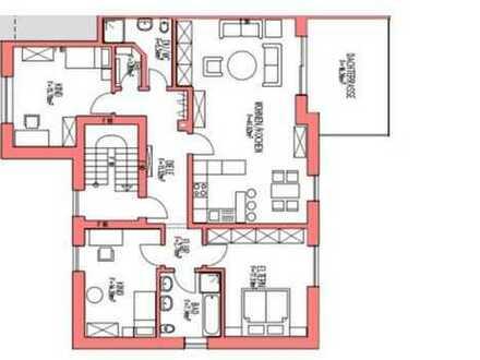 Großzügige Wohnung 1OG mit Dachterrasse, Südwest Lage u. Garage.