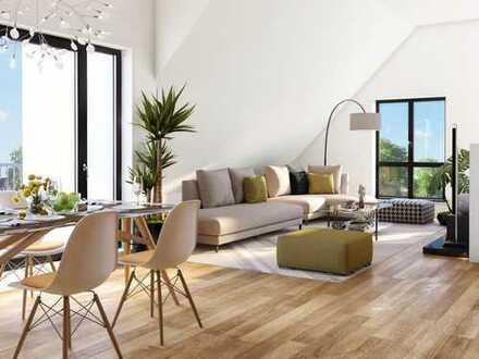 Exklusives Dachgeschossloft mit großem Wohn-/Ess-/Kochbereich, Terrasse & 2 Balkonen in schöner Lage