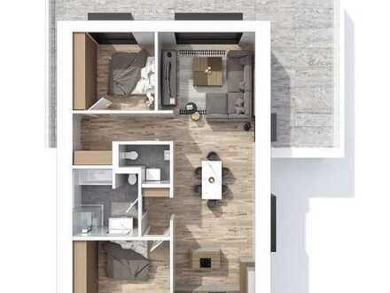 Erstbezug! stilvolle 3-Zimmer-Wohnung mit Penthousecharakter und großer Dachterrasse in Geiselhöring
