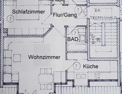 Ruhige Innenstadtlage, 3 ZKB Balkon, 87 m²