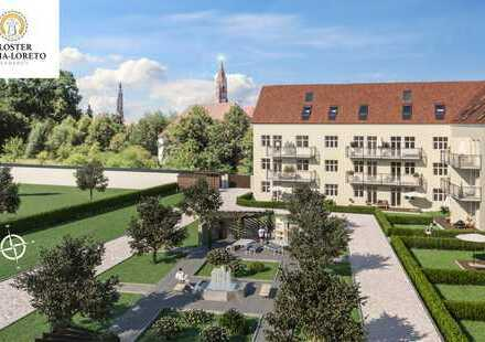 3 Zi. Terrassen Wohnung mit Garten und Blick auf den Hofberg.