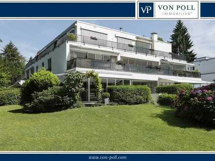 In einer der besten Lagen von Baden-Baden, attraktive Wohnung mit großem Gartenanteil