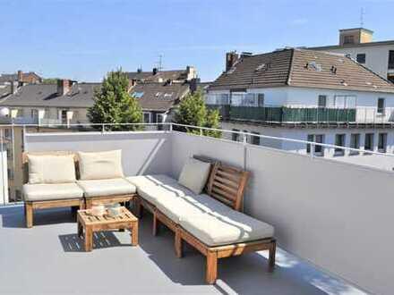 Kleines Penthaus über die Dächer von Düsseldorf
