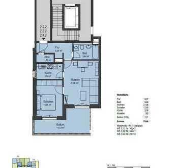 Erstbezug- moderne 2-Raum-Wohnung mit Balkon
