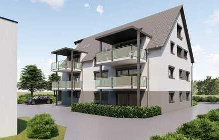 Neubau in Nebringen! Geräumige 92,8 m² 3-Zim. Erdgeschoss-Wohnung mit Südterrasse
