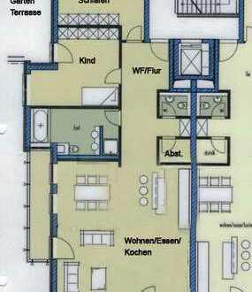 Exklusive Wohnung 3-Zimmerwohnung, Ulm-Michelsberg, Süd-Balkon und Süd-West Terrasse mit Garten