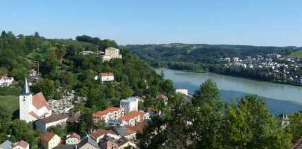 Ilzstadt-Perle: Penthouse-Neubau-Whg., perfekt für Singles, Traum-Aussicht, 2 Balkone, 2 Zi, EBK, TG