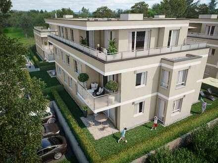Erstbezug in Neubau: 3-Zimmer-Erdgeschosswohnung mit Terrasse, Garten und TG-Stellplatz