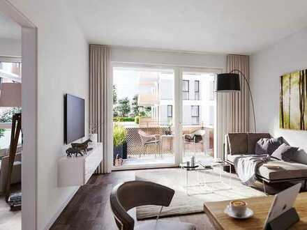 PANDION VILLE - Charmante 2-Zimmer-Wohnung mit großzügigem Balkon in grüner Lage