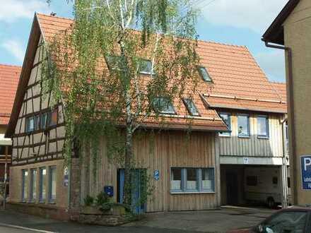 Jung mit historischer Fassade, im Ortskern Lohrbach mit viel Grün, Wohnung mit Haus-Charakter