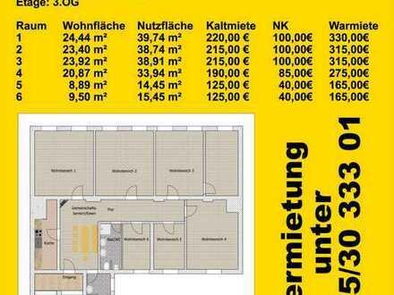 WG-Zimmer in der Zwickauer Innenstadt
