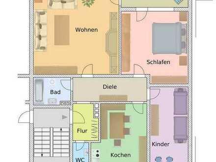 # Hausmeisterwohnung - top renoviert! Siehe Hinweise im Exposee!
