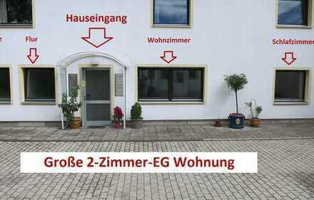 Maximal 2 Personen! Große, helle, sanierte 2-Zimmer EG Wohnung in München Feldmoching
