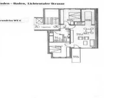 Exklusive 3-Zimmer-Wohnung mit Balkon und Einbauküche in Baden-Baden
