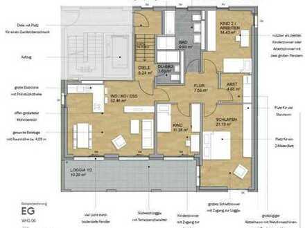 Wohnen in der Beleetage mit einer Raumhöhe bis zu über 4 Meter - Ihrer Bungalowwohnung (Nr. 6)