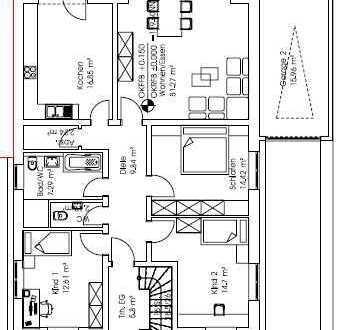 Schönes großes Zweifamilienhaus nahe Grundschule, EG mit großer Terrasse zu vermieten