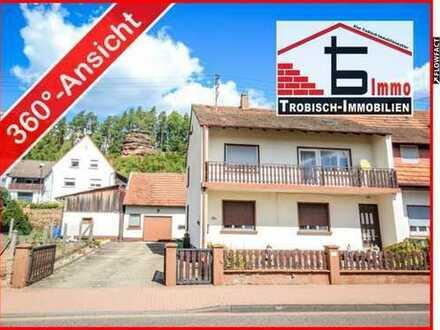 Geräumige Doppelhaushälfte mit Scheune und Garage (Pfalz)   Trobisch-Immobilien