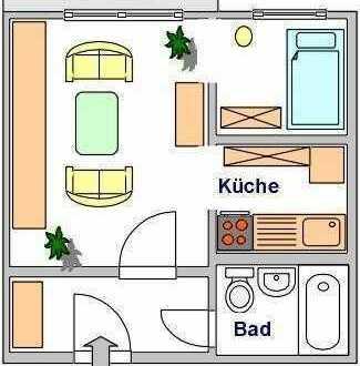 Super Aussicht - kleine Wohnung m. Dusche - f. Singles oder Senioren, Fahrstuhl