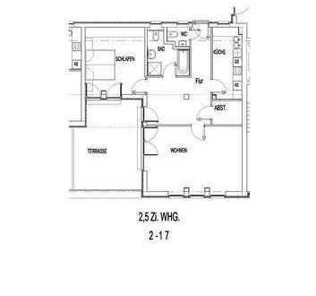 Großzügige 2,5 Zimmer Wohnung mit Südbalkon