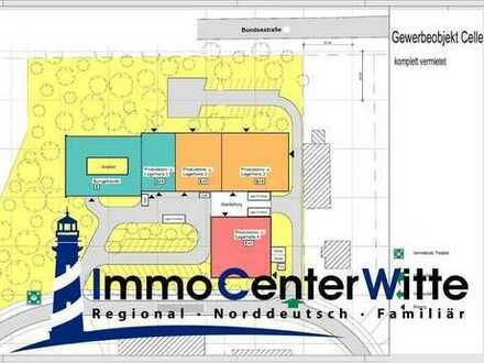 Attraktive Kapitalanlage: Bürogebäude mit 4 Produktionshallen - voll vermietet in Celle