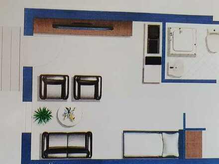 1-Zi-Wohnung, Seniorenwohnung mit EBK und Balkon