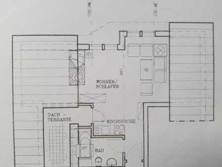 Gepflegte 1-Zimmer-DG-Wohnung mit Balkon und EBK in Horb-Nordstetten