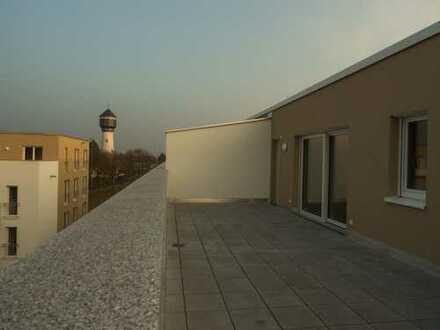 attraktive 3-Zimmer-Penthouse-Wohnung mit gr. Dachterrasse in Kehl, KFW 55
