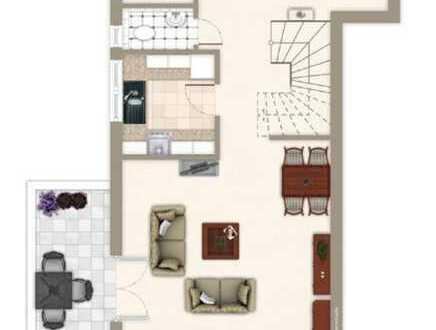 Stilvolle 3-Zimmer-Maisonette-Wohnung mit Balkon in Leinfelden-Echterdingen