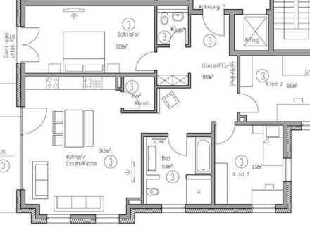 4 Zimmer Obergeschosswohnung mit einem Tiefgaragenstellplatz und einem Stellplatz (Wohnung Nr.3)