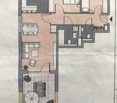 Schöne 3 Zimmer Wohnung mit Terasse, 951 €, 88 m²,