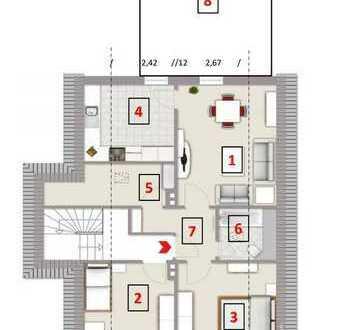 Teilrenovierte 3,5 Zimmerwohnung mit großer Dachterrasse ab dem 15.03.2020 frei