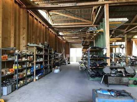 Reserviert - Lagerhalle mit separatem Carport und Garagen