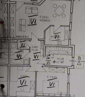 Gepflegte 3-Zimmer-Dachgeschosswohnung mit Balkon und Einbauküche in Mauchenheim