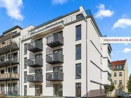 IMMOBERLIN: Toplage! Exquisite Neubauwohnung zur Miete mit Südbalkon oder -Terrasse