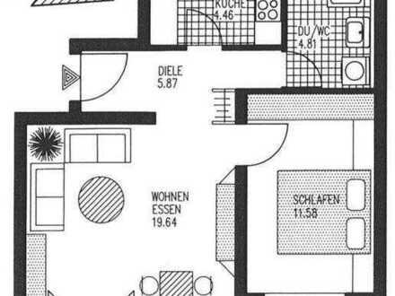 Gepflegte 2-Zimmer-Wohnung mit Tiefgaragenplatz und EBK in Stuttgart-Bad Cannstadtt