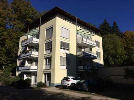 Moderne 2 ZKB-Wohnung mit Lift in TOP-Lage in Bad Herrenalb, 59qm + 2 Balkone, € 495,- + NK/HZ