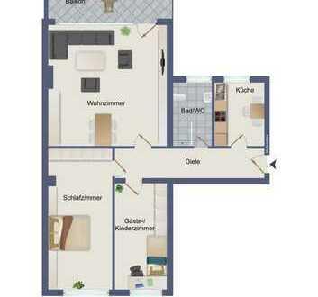 Stilvolle 3-Raum Wohnung mit Balkon in City-Wohnlage