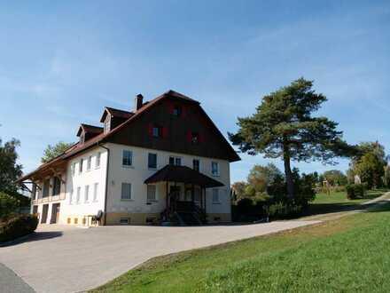WOHNEN IN ALLEINLAGE! Stilvoll sanierte 2-Zi.Maisonettewohnung mit Panorama-Aussicht zu See & Alpen