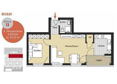 Ruhige, zentrale Innenstadtlage!2-Zimmer-Wohnung im Pantaleonswall 33 zu verkaufen*NEUBAU*