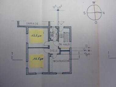 2 Zimmer K/D/B, 55qm als WG oder Wohnung zu vermieten