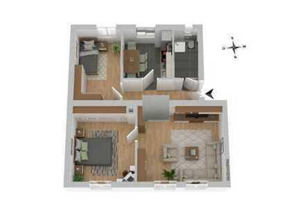 Renovierte 3-Zimmer Wohnung mit Einbauküche