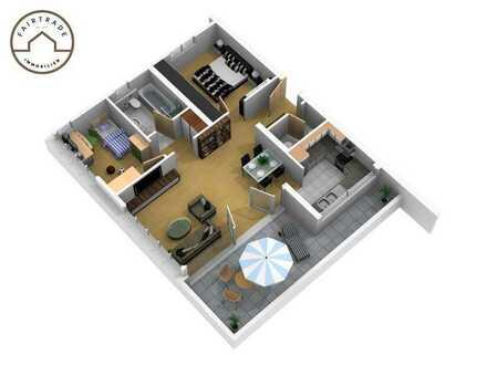 Schöne 3- Zimmer Dachgeschosswohnung mit Blick über die Stadt